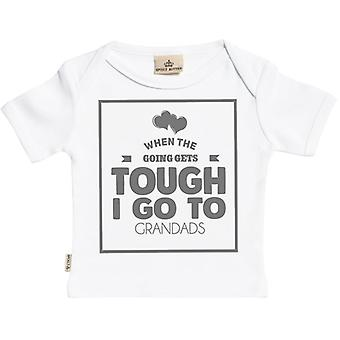 Spoilt Rotten When Going Gets Tough I Go To Grandads Short Sleeve Baby T-Shirt
