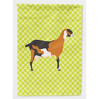 Anglo-nubian Nubian Goat Green Flag Canvas House Size