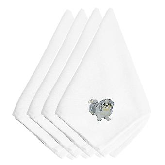 Carolines Treasures  EMBT1746NPKE Shih Tzu Embroidered Napkins Set of 4