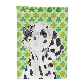 Carolines Treasures  SS4423-FLAG-PARENT Dalmatian St. Patrick's Day Shamrock Por