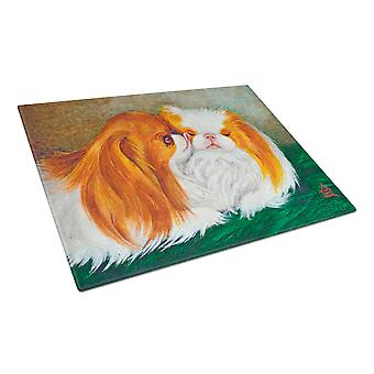 Japanese Chin Best Friends Glass Cutting Board Large