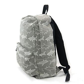 الرمادي والقرش الأبيض التي تنتشر فيها حقيبة قماش