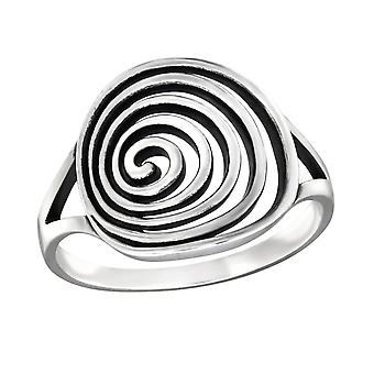 Spiral - 925 Sterling Silver Plain Rings - W32286x