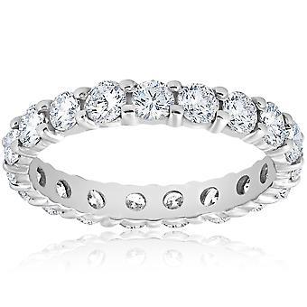 Diamond evigheten Ring 2 karat kvinners stables bryllup Band 14K hvitt gull