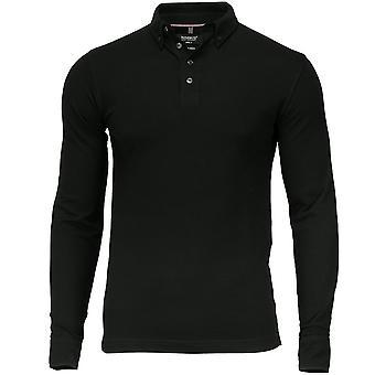 Nimbus Mens Carlington Cotton Lycra Deluxe Long Sleeve Polo Shirt