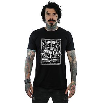 Johnny Cash Herren Musik Rebell T-Shirt