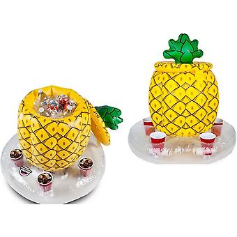 BigMouth Inflatable Floating Pineapple Multi Drinks Cooler Pool Float Beach Holiday Swimming Water Beach