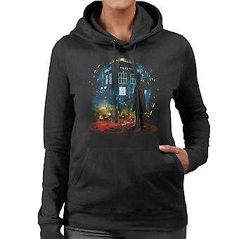 Doctor Who 11th Time Storm Rainbow Women's Hooded Sweatshirt