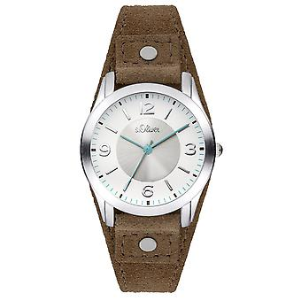 s.Oliver women's watch polshorloge lederen SO-3381-LQ