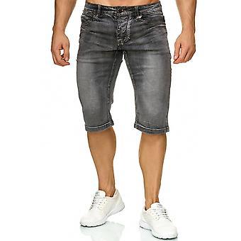 Bermuda de mens Jeans Short Stretch Denim Vintage coutures léger été Pantacourts