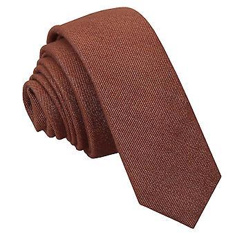 Brauner Ottoman Wolle schmaler Krawatte
