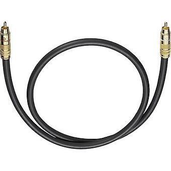 RCA audio/phono kabel [1x RCA plug (phono)-1x RCA plug (phono)] 10 m antraciet vergulde connectors Oehlbach NF 214 SUB
