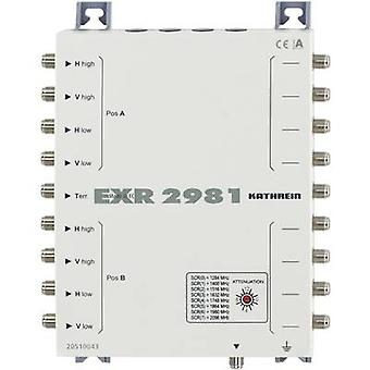 Kathrein EXR 2981 SAT unicable cascade multiswitch Inputs (multiswitches): 9 (8 SAT/1 terrestrial) No. of participants: 8