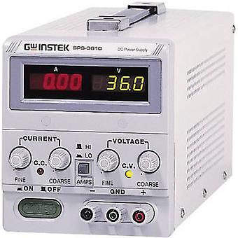 GW Instek SPS-606 Bench PSU (adjustable voltage) 0 - 60 V DC 0 - 6 A 360 W No. of outputs 1 x