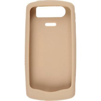 אוכמן העור סיליקון מקרה עבור Blackberry 8120/8130 פרל סדרה-זהב
