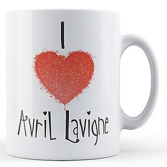 Decorative Writing I Love Avril Lavigne Printed Mug