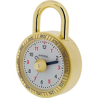 Gift Time Products Padlock Miniature Clock - Gold