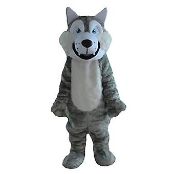 SPOTSOUND of Wolf gray and white, soft and furry mascot