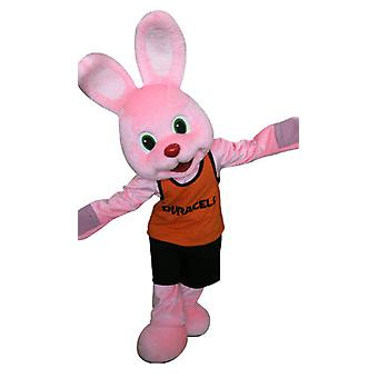 SPOTSOUND of the famous Pink Duracell Bunny mascot. Rabbit pink