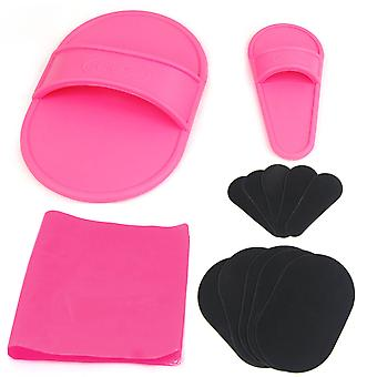 TRIXES Exfoliating Hair Removal Pad Set for Smooth Skin on Legs Arm Face Top Lip