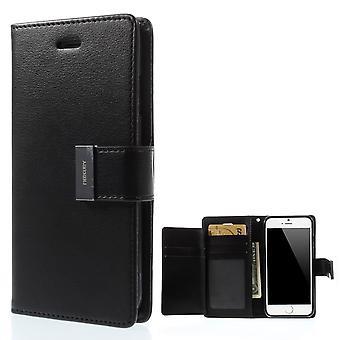 Mercury GOOSPERY Rich Diary for iPhone 6/6s BLACK