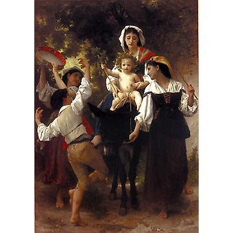 Return from the Harvest, Adolphe William Bouguereau, 60x40cm