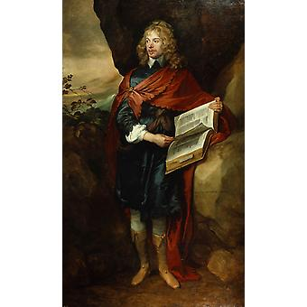 Sir John Suckling,Anthony Van Dyck,60x40cm