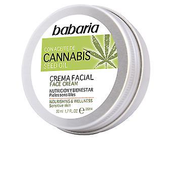 Babaria Cannabis Crema Obličejová Výživición Y Bienestar 50 ml Unisex