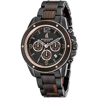Spinnaker Wood Vessel Watch - Black