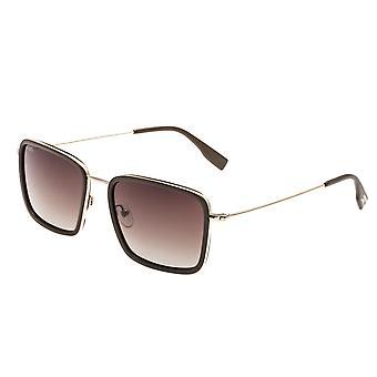 تبسيط باركر الاستقطاب النظارات الشمسية-براون-الذهب/بني داكن
