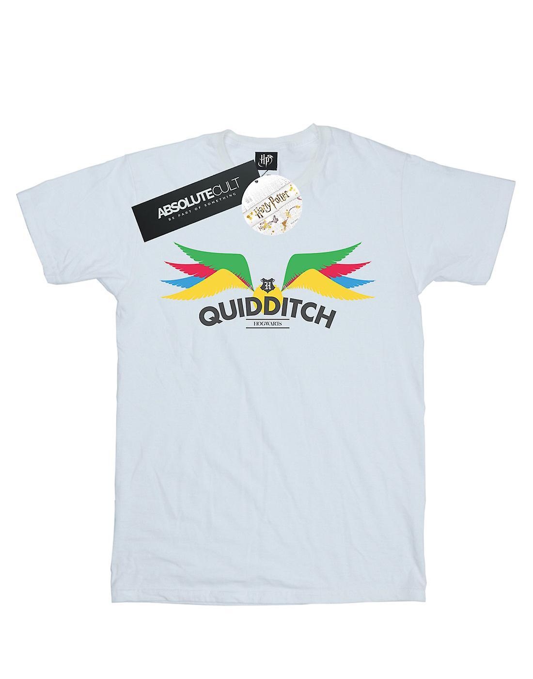 Harry Potter Women's Snitch Wings Pastels Boyfriend Fit T-Shirt
