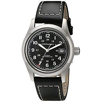 Automatische mannen Hamilton analoge horloge met lederen H70455733