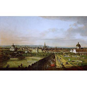 Vienna, Seen from the Belvedere Palace, Bernardo Bellotto, 60x38cm