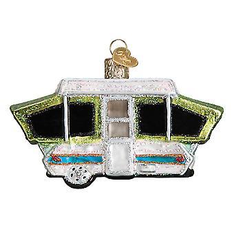 Viejo mundo Navidad Pop-Up tienda caravana vacaciones adorno cristal soplado