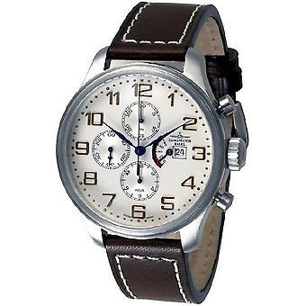 Zeno-watch mens watch OS retro Chrono power reserve 8553TVDPR-f2