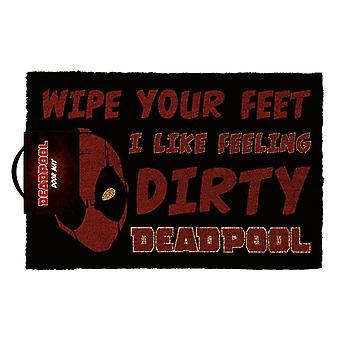 Deadpool 'I Like Feeling Dirty' Doormat