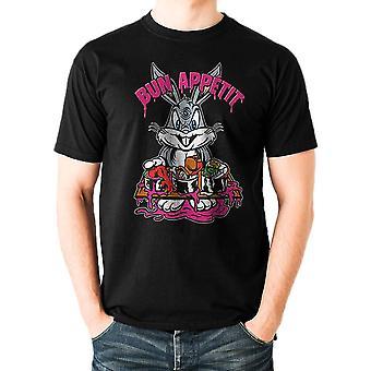 Les hommes Looney Tunes bugs Bun appetit noir T-Shirt