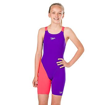 Speedo Fastskin Junior Endurance Nyitott térdbőr fürdőruha lányoknak