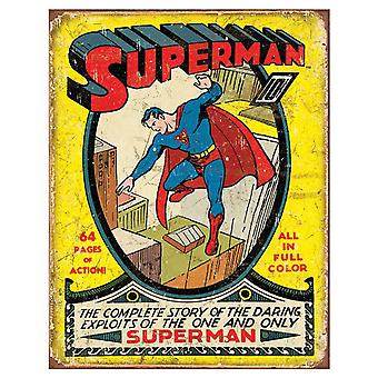 Superman Comic retrò Tin segno