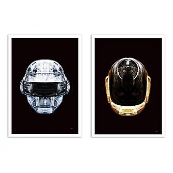 2 Art-Posters - Daft Chrome and Gold - Rubiant