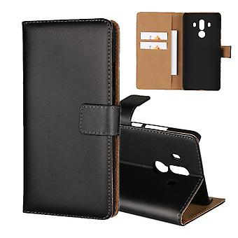 Wallet Case Huawei Mate 10 PRO, genuine leather, black