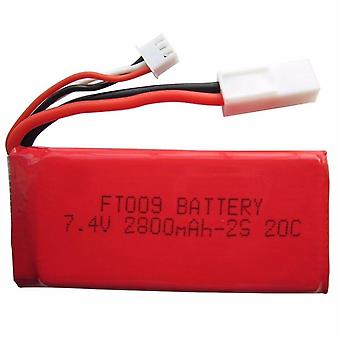 1Pcs Upgraded 7.4V 2800mAh 25C Li-Po Battery + for Feilun FT009 RC Boat