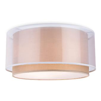 Firstlight - 3 Light Flush Light Taupe - 5914TA
