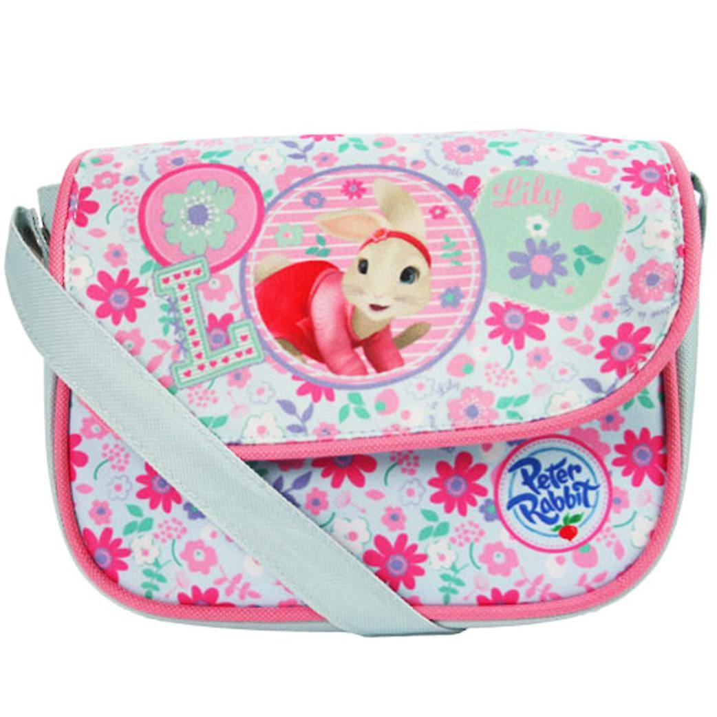 Childrens blue and pink Peter Rabbit handbag
