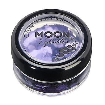 Classic Chunky Glitter by Moon Glitter – 100% Cosmetic Glitter for Face, Body, Nails, Hair and Lips - 3g - Lavender