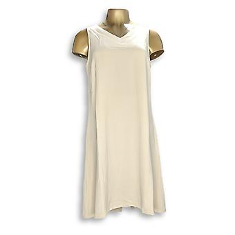 Linea by Louis Dell'Olio Dress Gauze Crepe Sleeveless Beige A276299