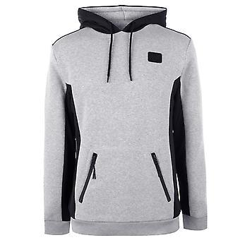 Everlast Mens Premium mock zip hoody hoodie com capuz Top manga comprida malha quente