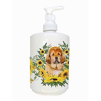 Carolines Treasures  CK2913SOAP Tibetan Mastiff Ceramic Soap Dispenser
