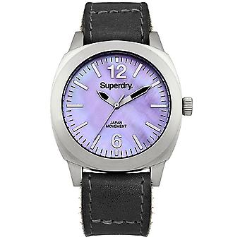 Superdry Luxe Japanese Quartz Analog Woman Watch with SYL117B Cowskin Bracelet