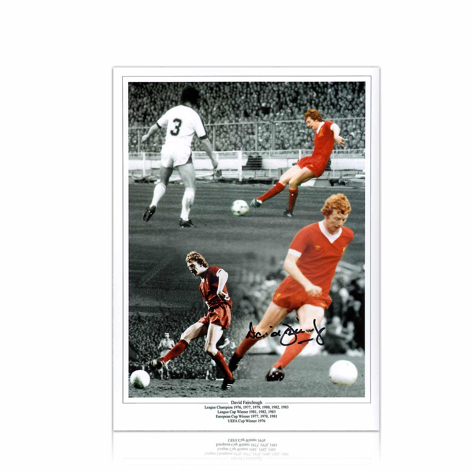 David Fairclough Signed Liverpool Photo In Gift Box